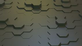 Textura geométrica abstracta de hexágonos aleatoriamente sacados Foto de archivo