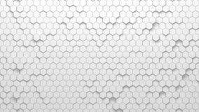 Textura geométrica abstracta de hexágonos aleatoriamente sacados Imagen de archivo