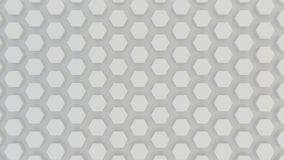 Textura geométrica abstracta de hexágonos aleatoriamente sacados Fotografía de archivo