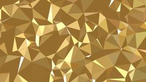 Textura geométrica abstracta del oro 3d Foto de archivo libre de regalías
