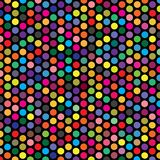 Textura geométrica colorida del modelo del fondo de Dot Grid Vector Object Fabric de la polca libre illustration