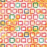 Textura geométrica del grunge del vector con la pintura Fotografía de archivo