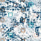 Textura geométrica del grunge del vector con la pintura Fotografía de archivo libre de regalías