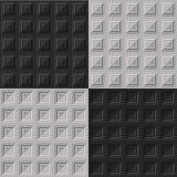 Textura geométrica del modelo Fondo inconsútil del vector Fotos de archivo