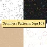 Textura geométrica inconsútil del modelo con los círculos stock de ilustración