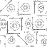 Textura geométrica inconsútil del modelo en blanco y negro Fondo simple ilustración del vector