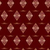 Textura geométrica marrón inconsútil Fotos de archivo