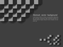 Textura geométrica preta Projeto do fundo do vetor, backg do Web site Fotos de Stock Royalty Free