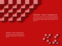 Textura geométrica vermelha Projeto do fundo do vetor, backgro do Web site Fotos de Stock Royalty Free