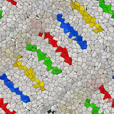 Textura gerada sem emenda calidoscópico dos alugueres do mosaico de vidro Imagem de Stock Royalty Free