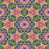 Textura gerada sem emenda calidoscópico dos alugueres do ponto Fotografia de Stock Royalty Free