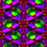 Textura gerada sem emenda das gemas de cristal Fotos de Stock Royalty Free