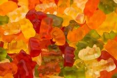 Textura gomosa do fundo dos ursos Foto de Stock