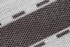 Textura gráfica de las rayas del marrón del modelo del algodón de la tela Imagen de archivo libre de regalías