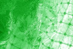 Textura Gráfico Fondo La tela de plata del cordón es verde esto Fotos de archivo