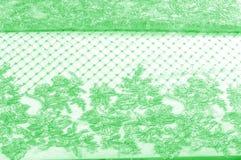 Textura Gráfico Fondo La tela de plata del cordón es verde esto Fotografía de archivo