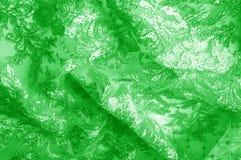 Textura Gráfico Fondo La tela de plata del cordón es verde esto Imágenes de archivo libres de regalías