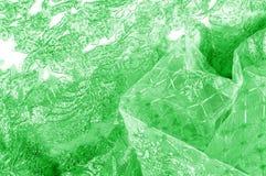 Textura Gráfico Fondo La tela de plata del cordón es verde esto Foto de archivo