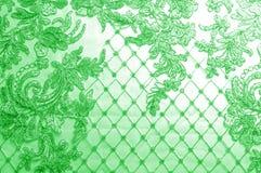 Textura Gráfico Fondo La tela de plata del cordón es verde esto Foto de archivo libre de regalías