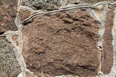 Textura granítica de la pared de piedra Imagenes de archivo