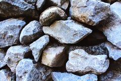 Textura grande da parede de pedra Imagens de Stock Royalty Free