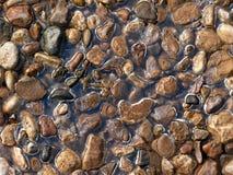 Textura. Grava. Hielo. Imagen de archivo libre de regalías