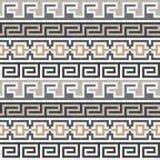Textura griega marrón inconsútil Imagen de archivo