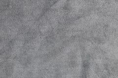 Textura gris clara del paño de la microfibra Fotografía de archivo