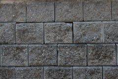 Textura gris oscuro del ladrillo Imágenes de archivo libres de regalías