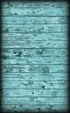 Textura grosseira atada rústica resistida velha do Grunge de Vignetted do entabuamento ciano da madeira de pinho imagem de stock