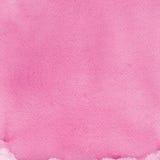 Textura hecha a mano natural rosada de la pintura de la acuarela, cierre texturizado de la macro del papel de la acuarela encima  Fotos de archivo