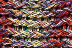 Textura hecha punto coloreada de las lanas Foto de archivo
