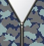 Textura hecha punto militar con la cerradura ilustración del vector