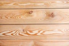 Textura hermosa de tablones de madera naturales con los nudos Foto de archivo libre de regalías