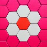 Textura hexagonal del fondo del suelo del ladrillo imagen de archivo libre de regalías