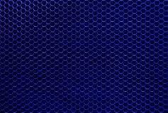 Textura hexagonal del hierro azul foto de archivo