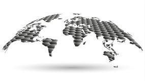 Textura hexagonal del mapa del globo Fotos de archivo