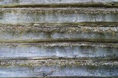 Textura horizontal da árvore Parede velha do registro Parede gasto de placas idosas Textura desorganizado velha da árvore Imagens de Stock Royalty Free