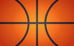 Textura horizontal de la bola para el baloncesto, fondo del deporte, ejemplo del vector ilustración del vector