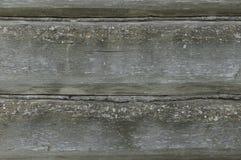 Textura horizontal del árbol Pared vieja del registro Pared lamentable de viejos tableros Vieja textura desvencijada del árbol Imagen de archivo