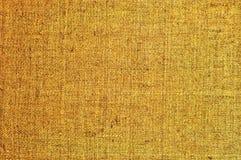 Textura horizontal textured natural do saco da juta do pano de saco de serapilheira do grunge, macro detalhado de despedida da lo Foto de Stock Royalty Free