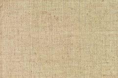Textura horizontal texturizada natural del saco de la arpillera de la harpillera de la arpillera del grunge, lona de despido del  fotografía de archivo libre de regalías
