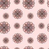 Textura inconsútil - alternación de modelos simétricos circulares Foto de archivo libre de regalías