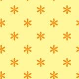 Textura inconsútil amarilla con las flores Fotos de archivo libres de regalías