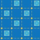 Textura inconsútil azul con los cuadrados Fotografía de archivo libre de regalías