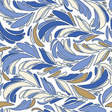 Textura inconsútil azul de las plumas Fotografía de archivo