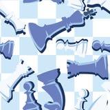 Textura inconsútil azul del tablero de ajedrez Imagen de archivo libre de regalías