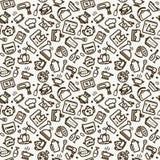 Textura inconsútil - cocina stock de ilustración
