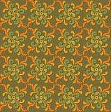 Textura inconsútil con el ornamento floral Fotos de archivo