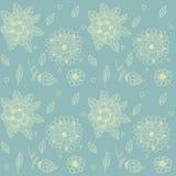 Textura inconsútil con las flores Foto de archivo